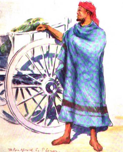 War Sketches in Colour - A Baralong Fruitseller (1903)
