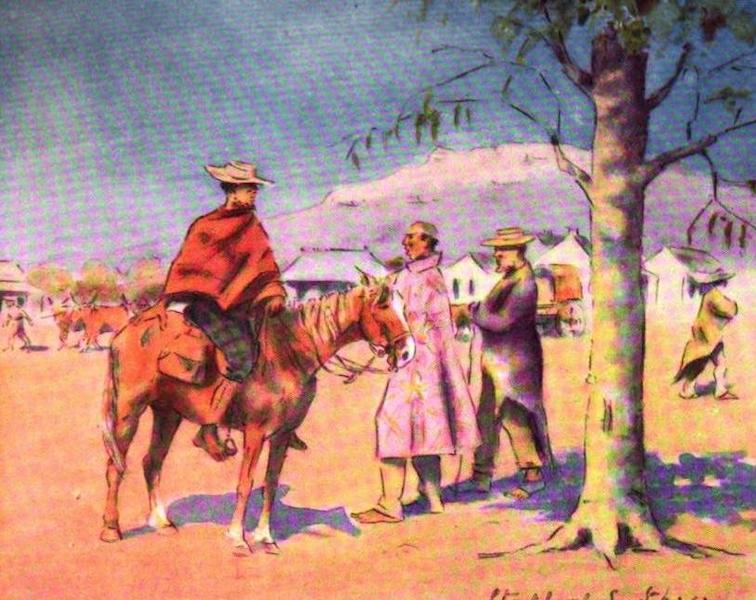 War Sketches in Colour - Baralongs at Thabanchu (1903)