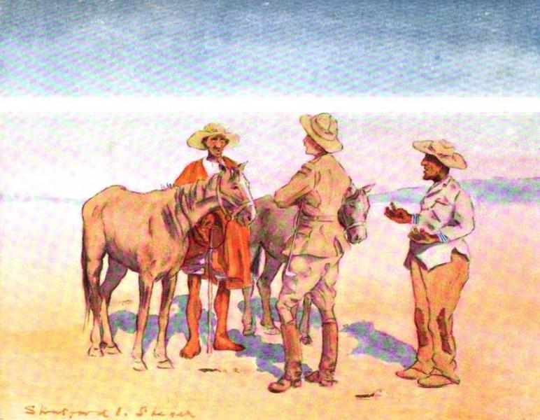 War Sketches in Colour - Buying Ponies from Baralongs at Thabanchu (1903)