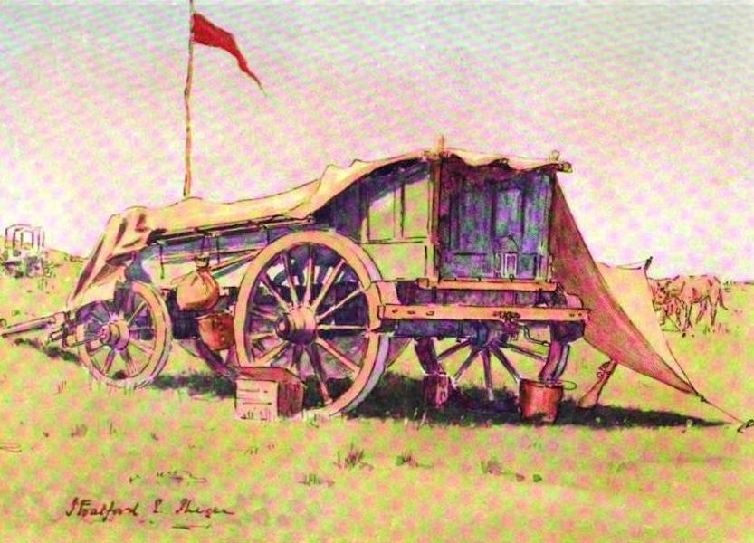 War Sketches in Colour - Our Brigadier's Buck-Waggon (1903)