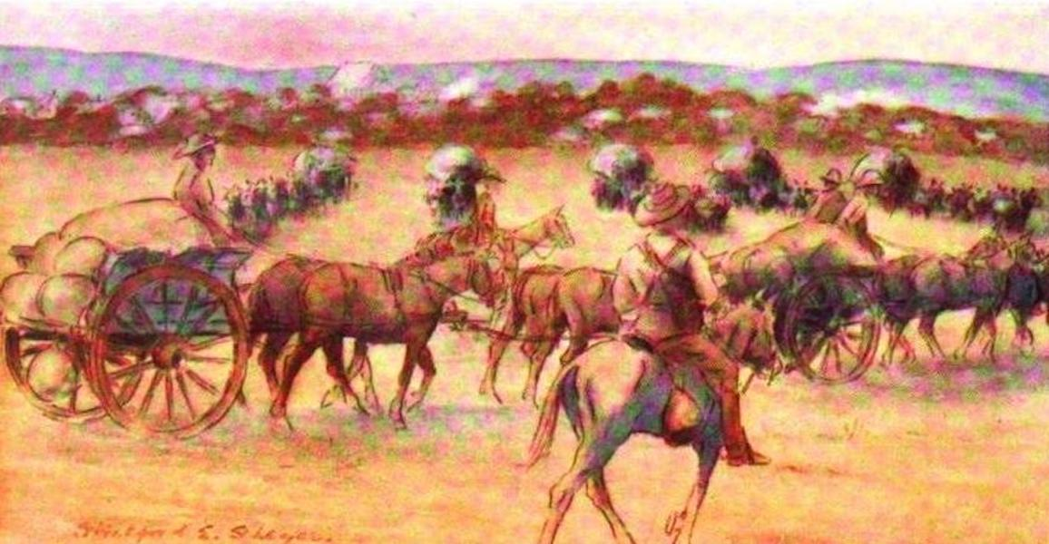 War Sketches in Colour - Transport, Lumsden's Horse (1903)