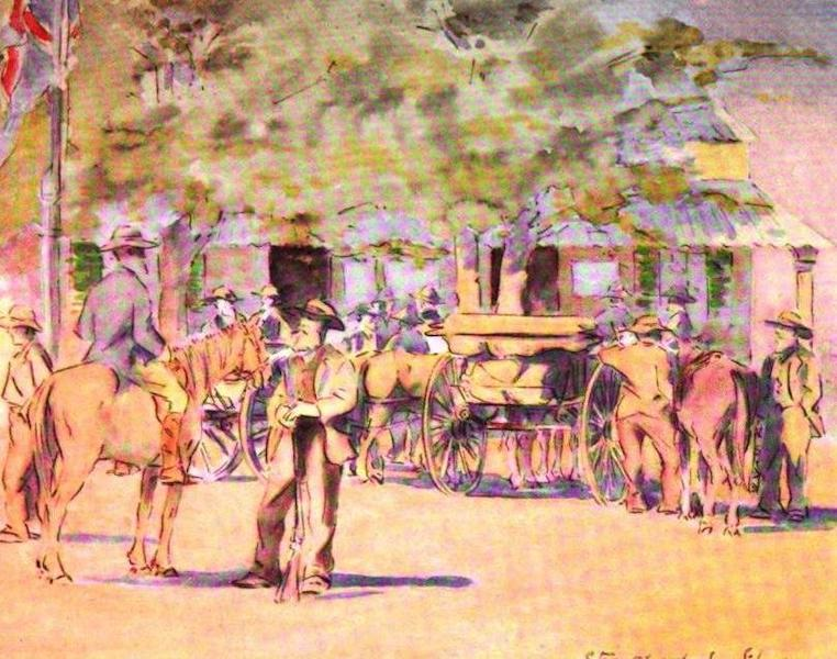 War Sketches in Colour - Free State Burghers surrendering at Kroonstad (1903)