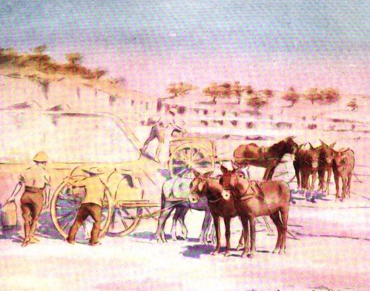 War Sketches in Colour - Our Water Supply at Kroonstad (1903)
