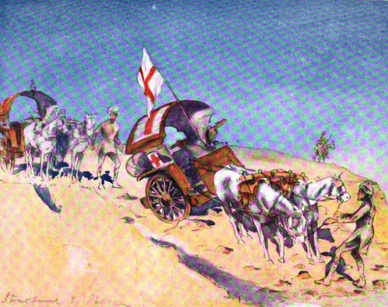 War Sketches in Colour - Tongas crossing a Drift (1903)