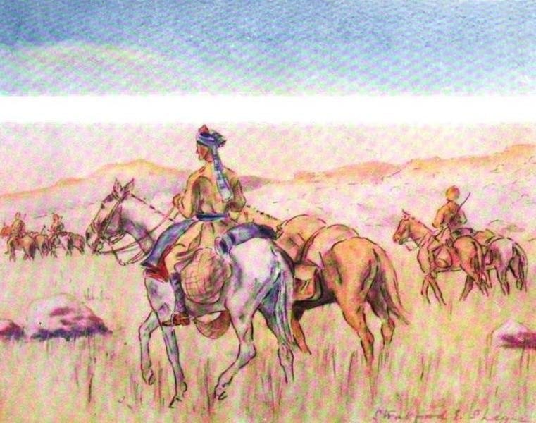 War Sketches in Colour - Led Ponies (1903)