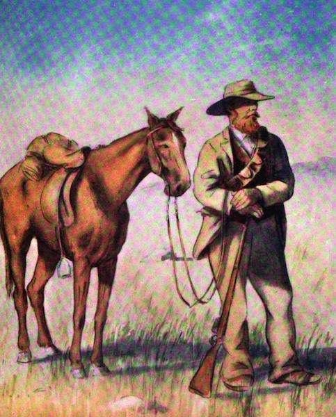 War Sketches in Colour - A Boer and his Pony (1903)