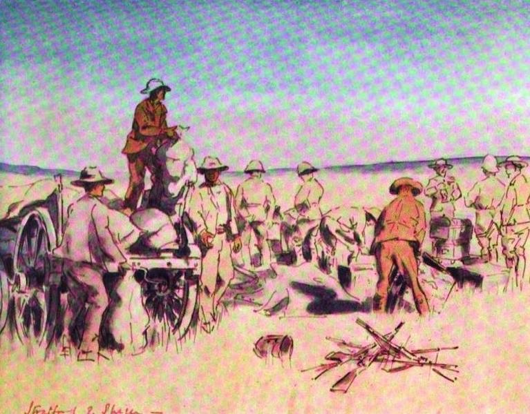 War Sketches in Colour - The Contents of a captured Boer Waggon (1903)