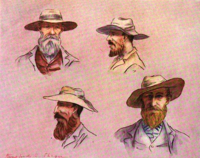 War Sketches in Colour - Some Types of Free State Boers (1903)