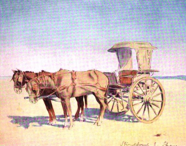 War Sketches in Colour - A Cape Cart from Cronje's Laager (1903)