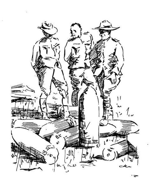 War Sketches in Colour - Siege Gun Shells destroyed by De Wet (1903)