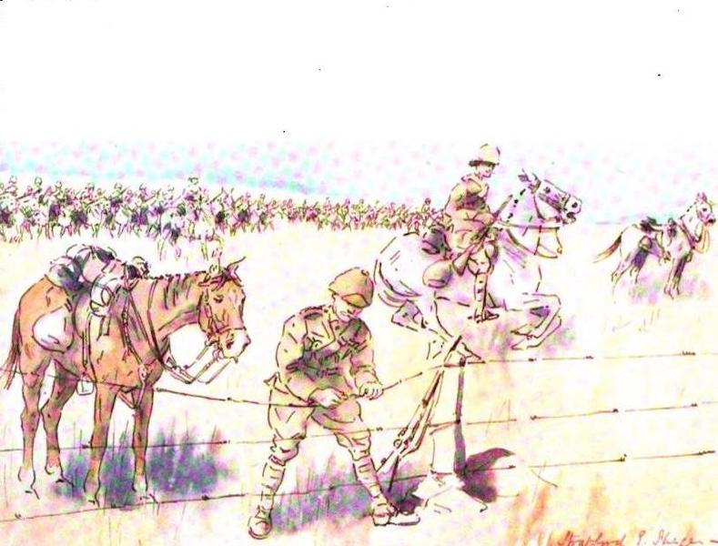 War Sketches in Colour - Wire Cutters to the Front (1903)