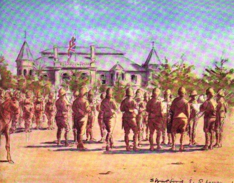 War Sketches in Colour - Guard Mounting, Bloemfontein (1903)