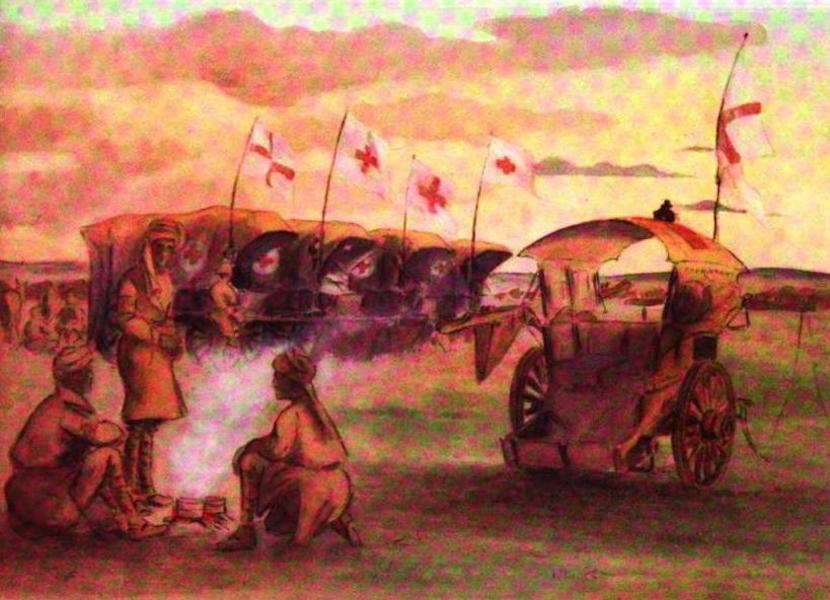 War Sketches in Colour - Evening at Welgelegen (1903)
