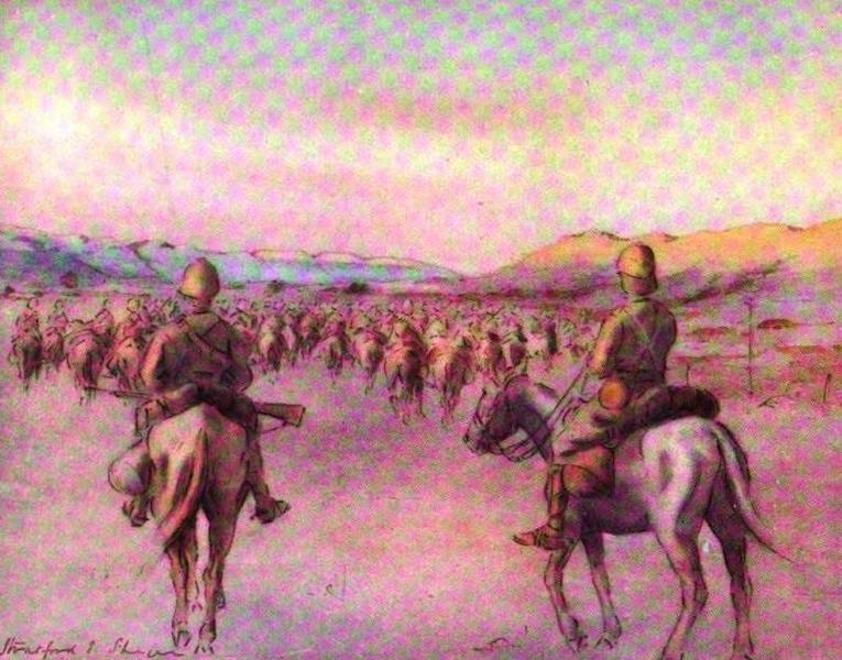 War Sketches in Colour - Nearing Pretoria (1903)