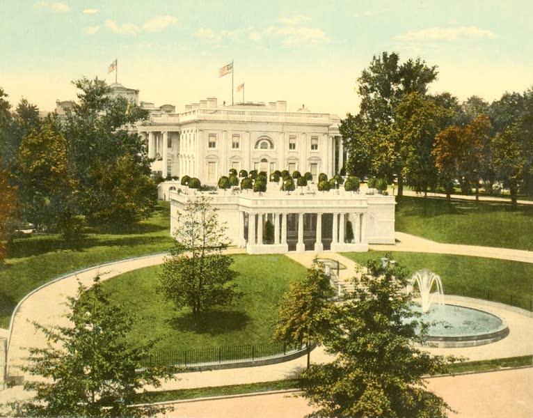 Washington, the City Beautiful - White House, East Entrance (1918)