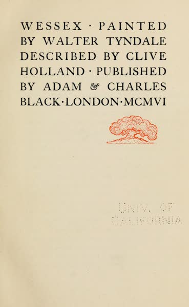 Wessex Painted and Described - Title Page (1906)