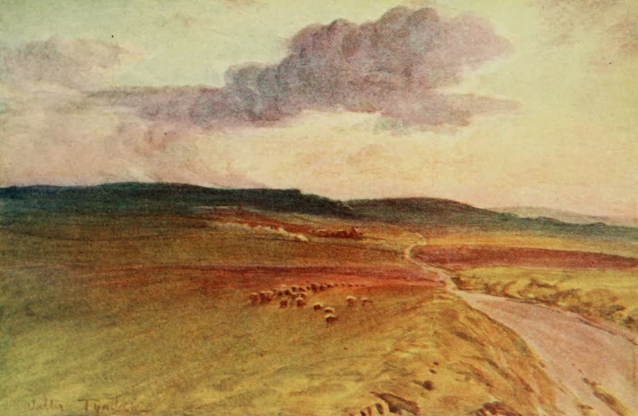 Wessex Painted and Described - Near Maiden Castle, Dorchester A scene in the Mayor of Casterbridge (1906)
