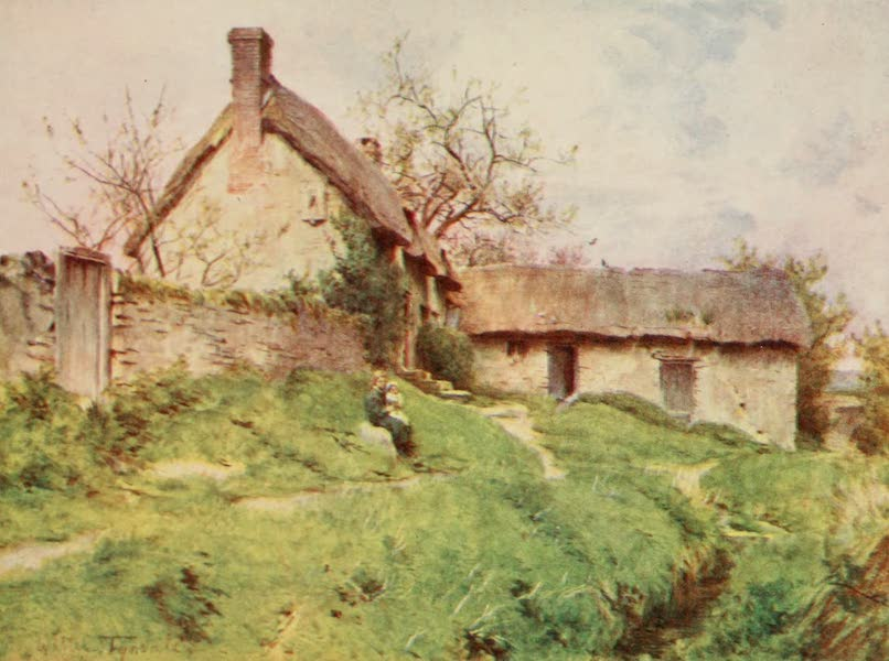 Wessex Painted and Described - A Group of Cottages at Sutton Poyntz, near Weymouth (1906)