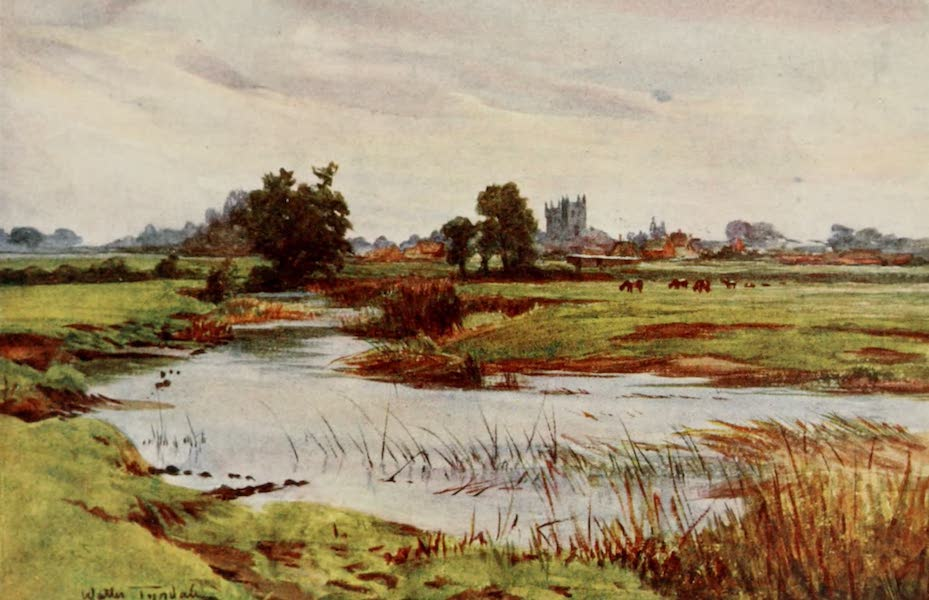 Wessex Painted and Described - The Stour : Wimborne Minster in the distance (1906)