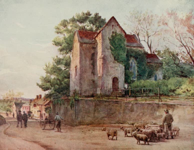 Wessex Painted and Described - The Saxon Church at Wareham. The