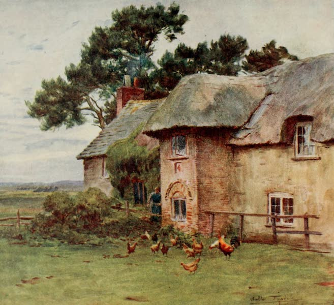 Wessex Painted and Described - Cottages at Stoke (1906)