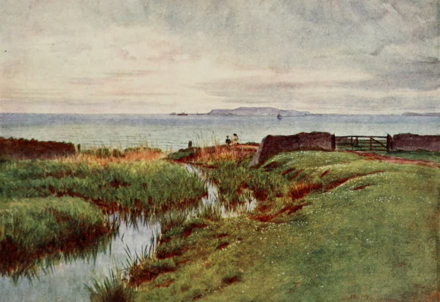 Wessex Painted and Described - Portland from the northern shore of Weymouth Bay. The