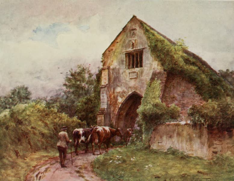 Wessex Painted and Described - Entrance Gate, Cleeve Abbey (1906)