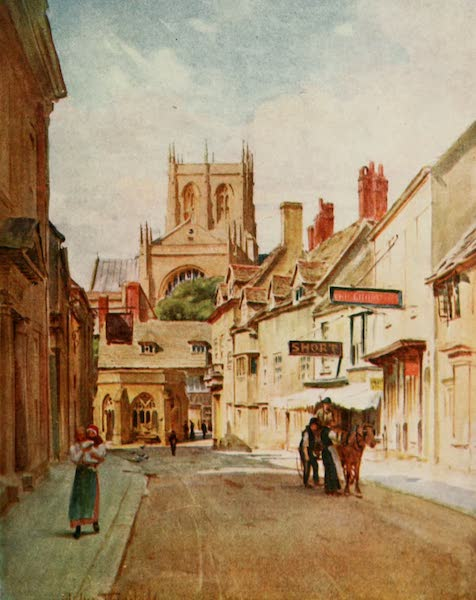 Wessex Painted and Described - Long Street, Sherborne. The