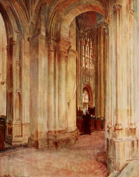 Wessex Painted and Described - Interior of Abbey, Sherborne (1906)