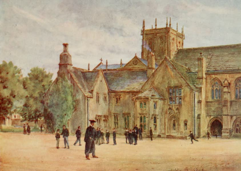 Wessex Painted and Described - Sherborne College (1906)