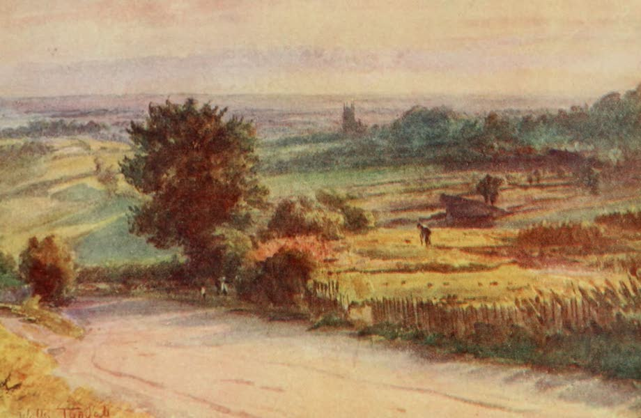 Wessex Painted and Described - Blackmore Vale from Shaftesbury. A scene in Jude the Obscure (1906)