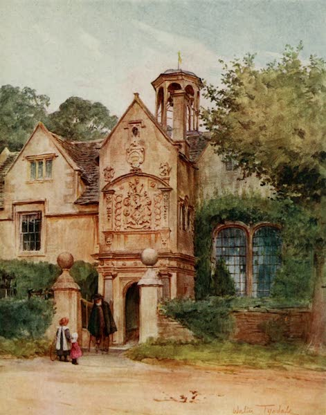Wessex Painted and Described - The Almshouses, Corsham, Wilts (1906)