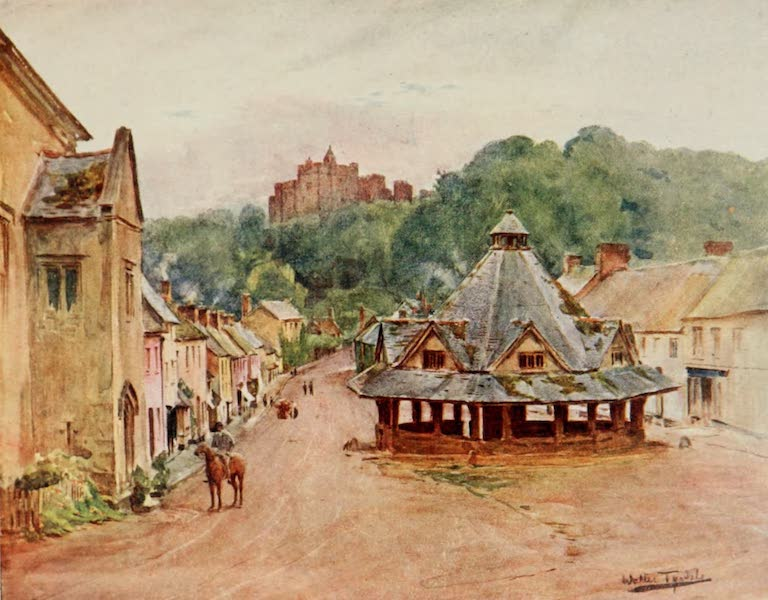 Wessex Painted and Described - Dunster Castle and Yarn Market (1906)