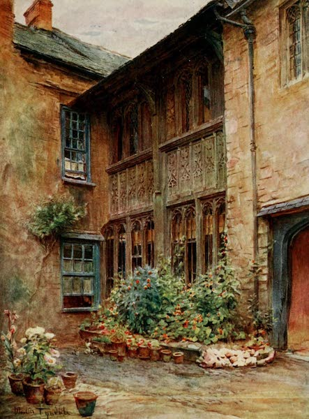 Wessex Painted and Described - The Yard of the Luttrell Arms, Dunster (1906)