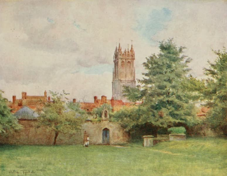 Wessex Painted and Described - Glastonbury Steeple from the Abbey Gardens (1906)