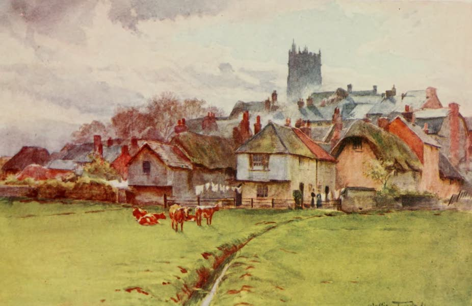 Wessex Painted and Described - Fordington, Dorchester. Back of Mixen Lane in The Mayor of Casterbridge (1906)