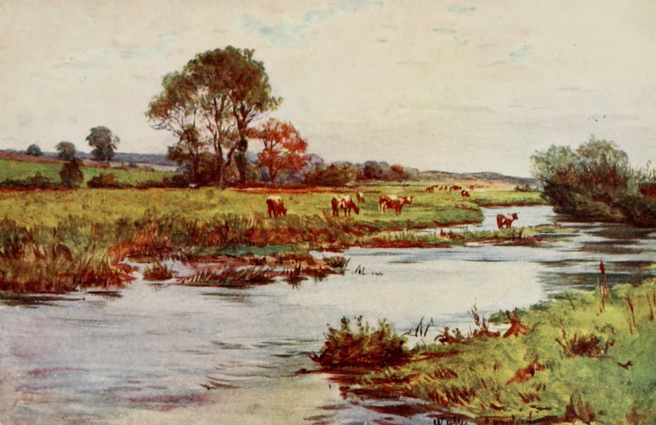 Wessex Painted and Described - The Frome above Dorchester (Casterbridge) (1906)