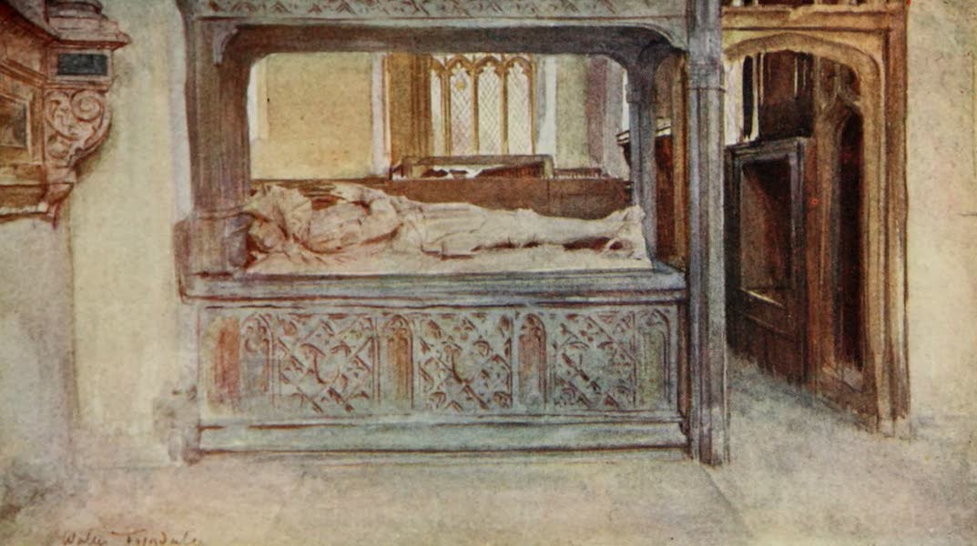Wessex Painted and Described - The Athelhampton Aisle in Puddletown Church, near Dorchester (1906)