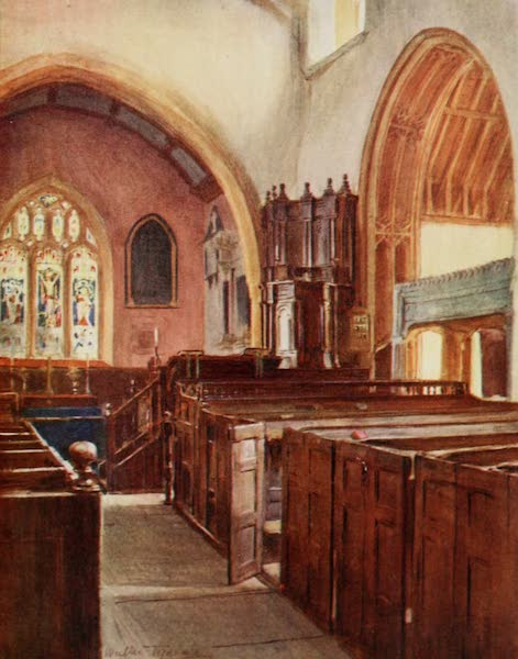 Wessex Painted and Described - Puddletown Church (1906)