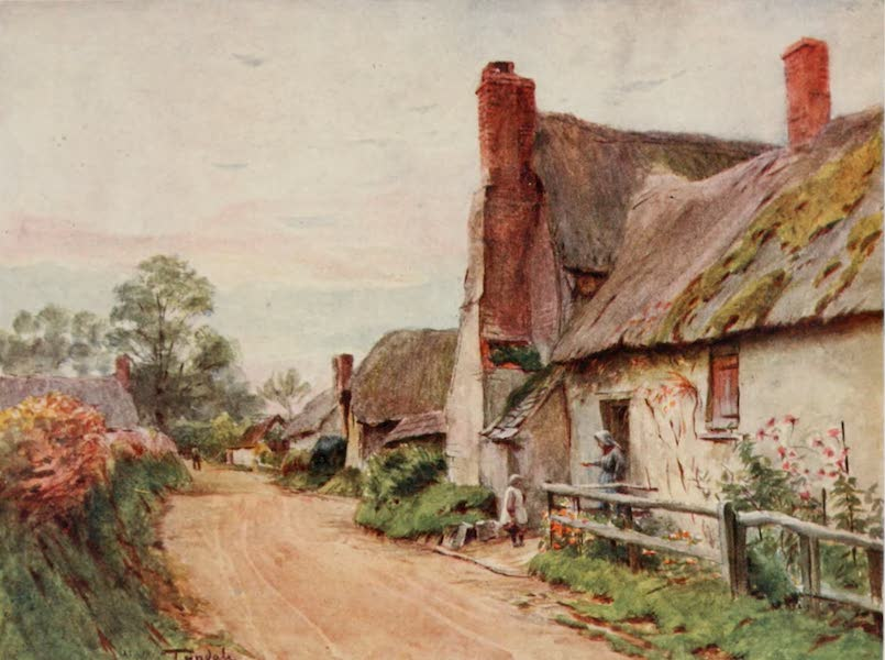 Wessex Painted and Described - Cottage at Tincleton, near Dorchester. The Home of Caroline Aspent, of