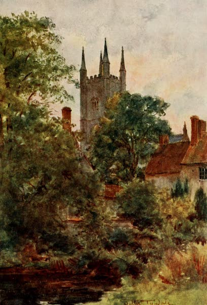 Wessex Painted and Described - From the Dean's Orchard, Mere, Wilts (1906)