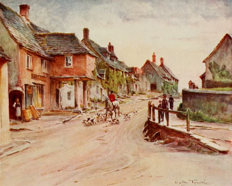 Wessex Painted and Described - East Street, Corfe Castle (1906)