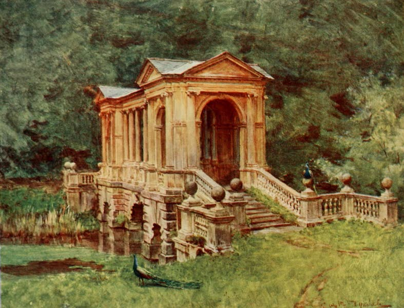 Wessex Painted and Described - The Bridge at Prior Park, Bath (1906)