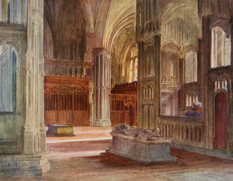 Wessex Painted and Described - The Retro-Choir, Winchester Cathedral, with the Chantries of Cardinal Beaufort and Bishop Waynflete (1906)