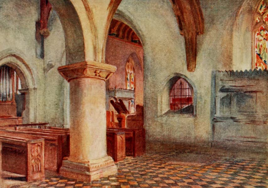 Wessex Painted and Described - The Church at Bere Regis.