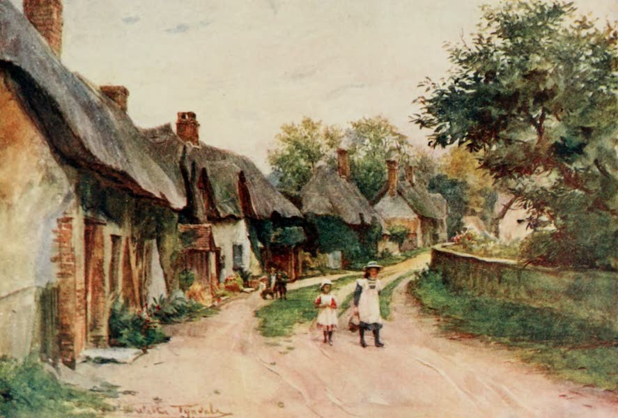 Wessex Painted and Described - Moreton, Dorset. The Village near Talbothays, Tess of the d'Urbervilles (1906)