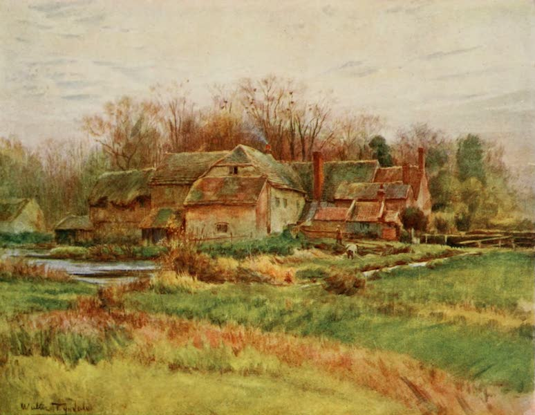 Wessex Painted and Described - Bindon Abbey Mill. Where Angel Clare proposed to learn milling, Tess of the d'Urbervilles (1906)