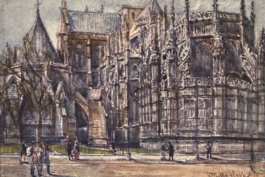 Westminster Abbey Painted and Described - The Chapter House and East End of Henry VII.'s Chapel (1904)