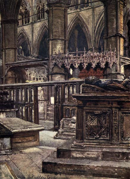 Westminster Abbey Painted and Described - St. Edmund's Chapel, showing the Tomb of the Duchess of Suffolk, Lady Jane Grey's mother (1904)