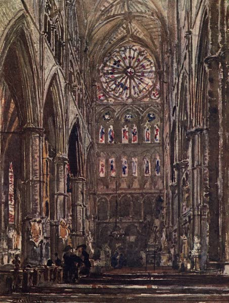 Westminster Abbey Painted and Described - Interior of the South Transept (1904)